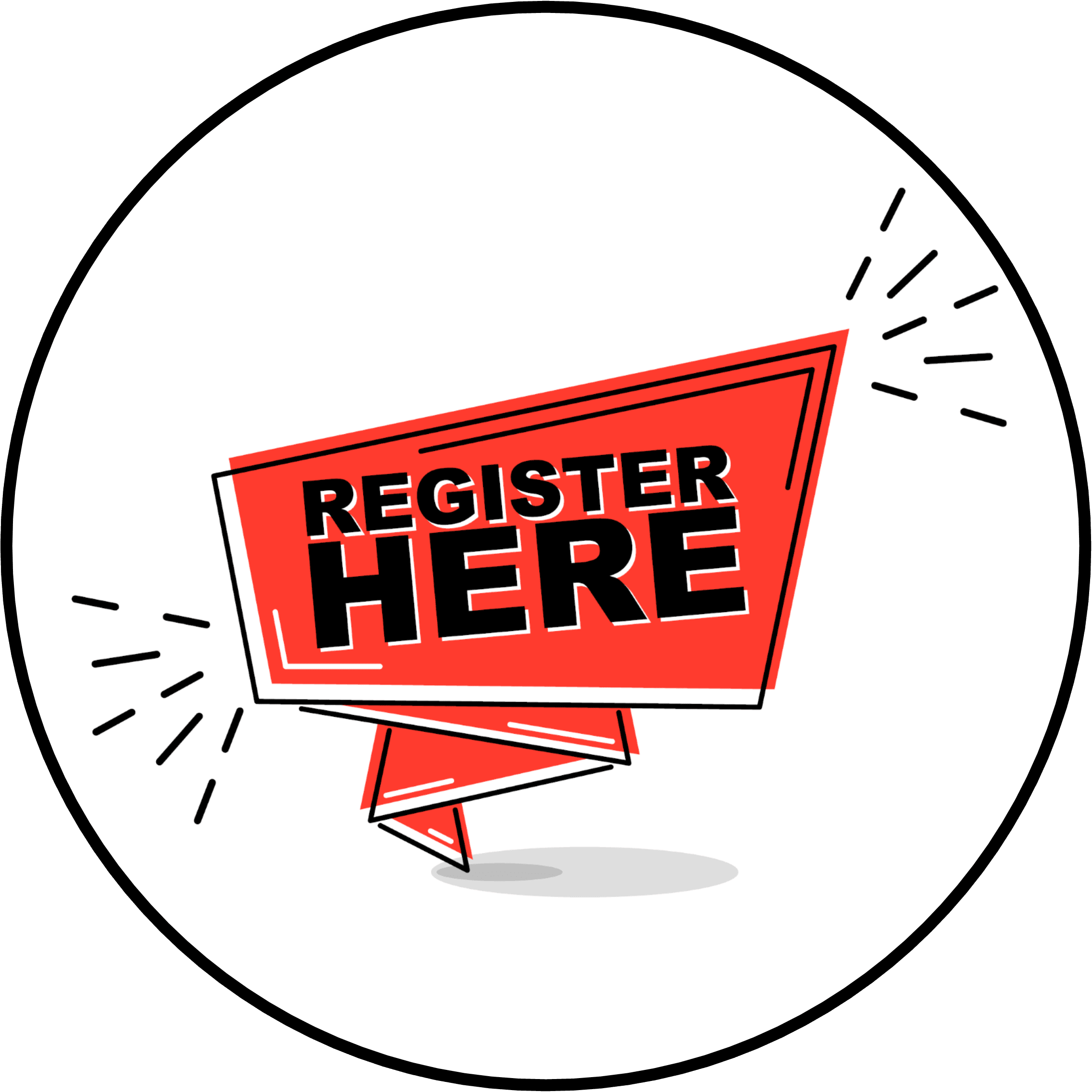 Register Here Circle